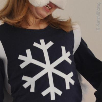 Bügelbild Schneeflocke