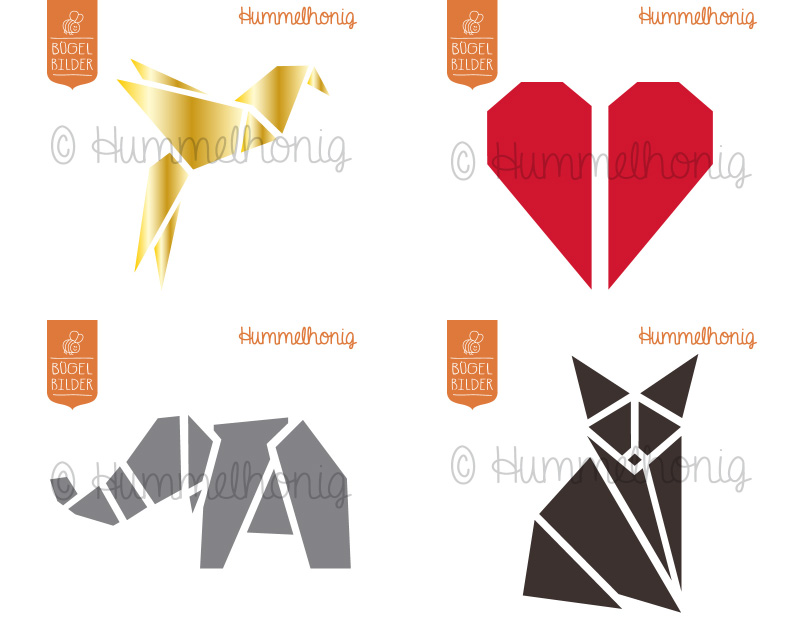 Origami Bügelbilder