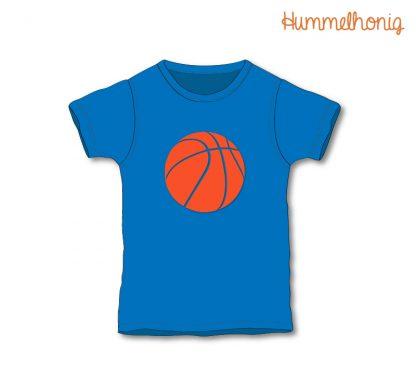 Designbeispiel Bügelbild Basketball