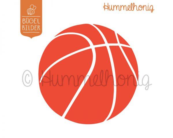 Bügelbild Basketball