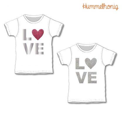 Designbeispiel Bügelbild LOVE