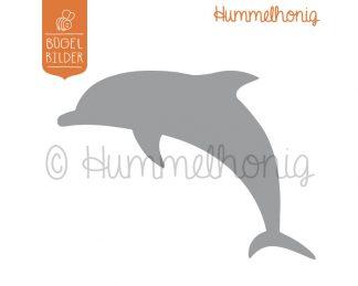 Bügelbild Delfin