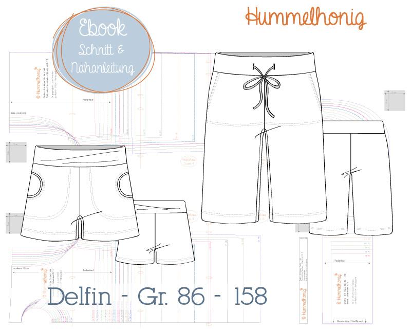 Ebook kurze Hose Delfin (Gr. 86-158) – Hummelhonig