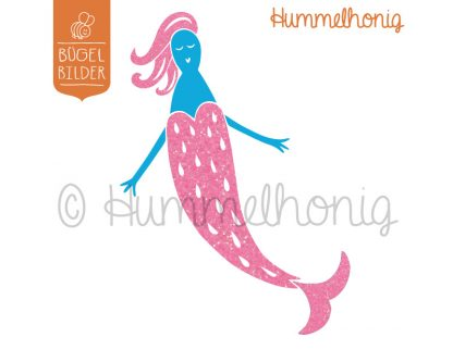 Bügelbild Meerjungfrau