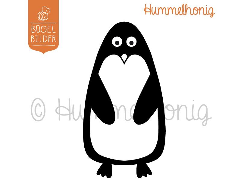 Bügelbild Pinguin
