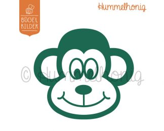 Bügelbild Affe