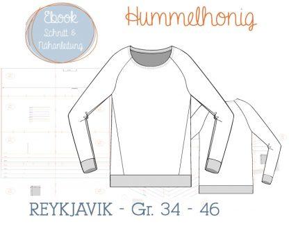 Ebook Damenraglan Reykjavik Skizze