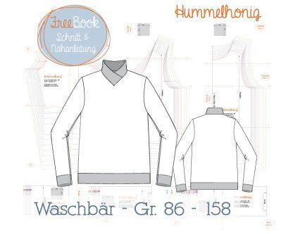 Skizze Ebook Sweater Waschbär