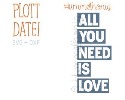 Plotterdatei All you need is love