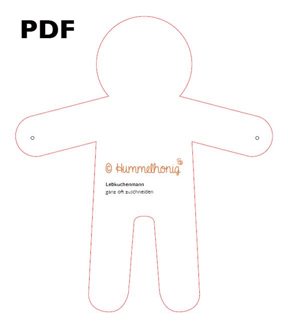Vorlage Lebkuchenmann PDF
