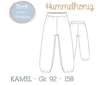 Skizze Sommerhose Kamel