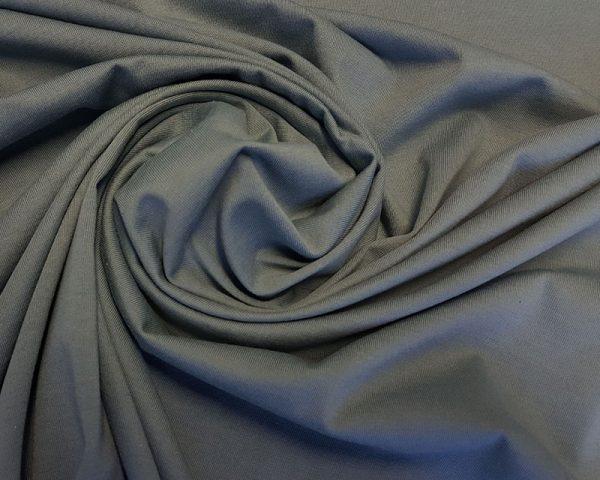 Albstoffe Jersey graublau