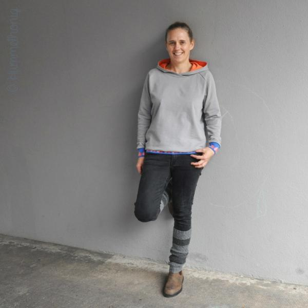 Raglansweater Reykjavik mit Kapuze