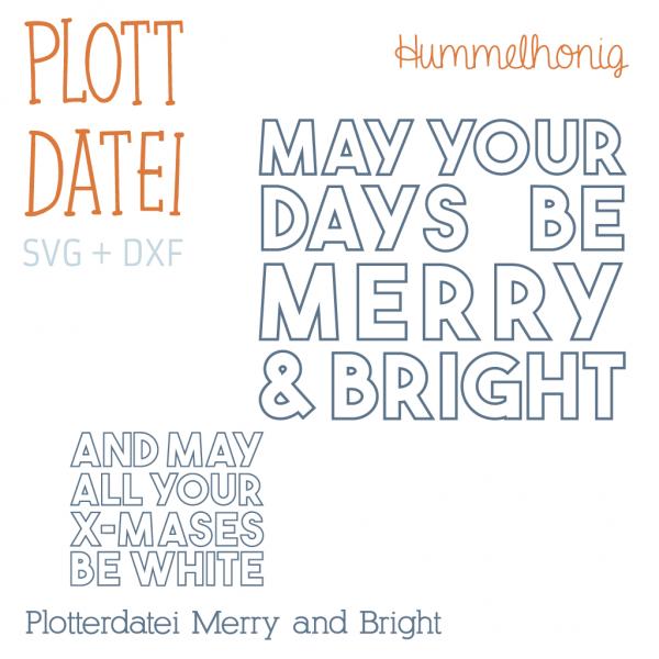 Plotterdatei Merry and Bright