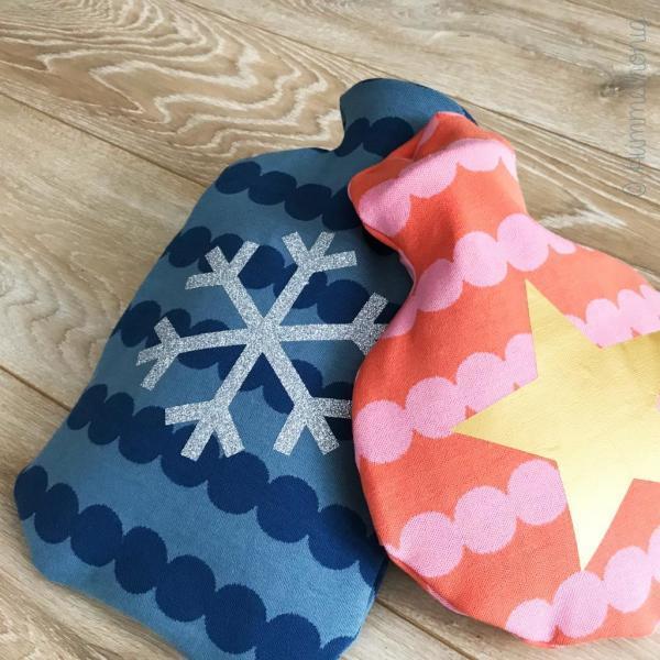 Bügelbild Schneeflocke und Stern