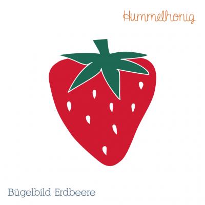 Bügelbild Erdbeere