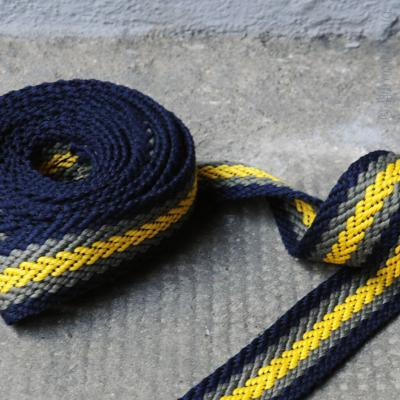 Gurtband Fischgrät navy-khaki-gelb